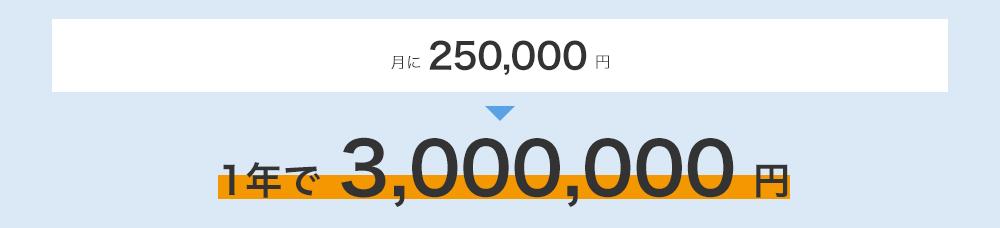 1年で300万円